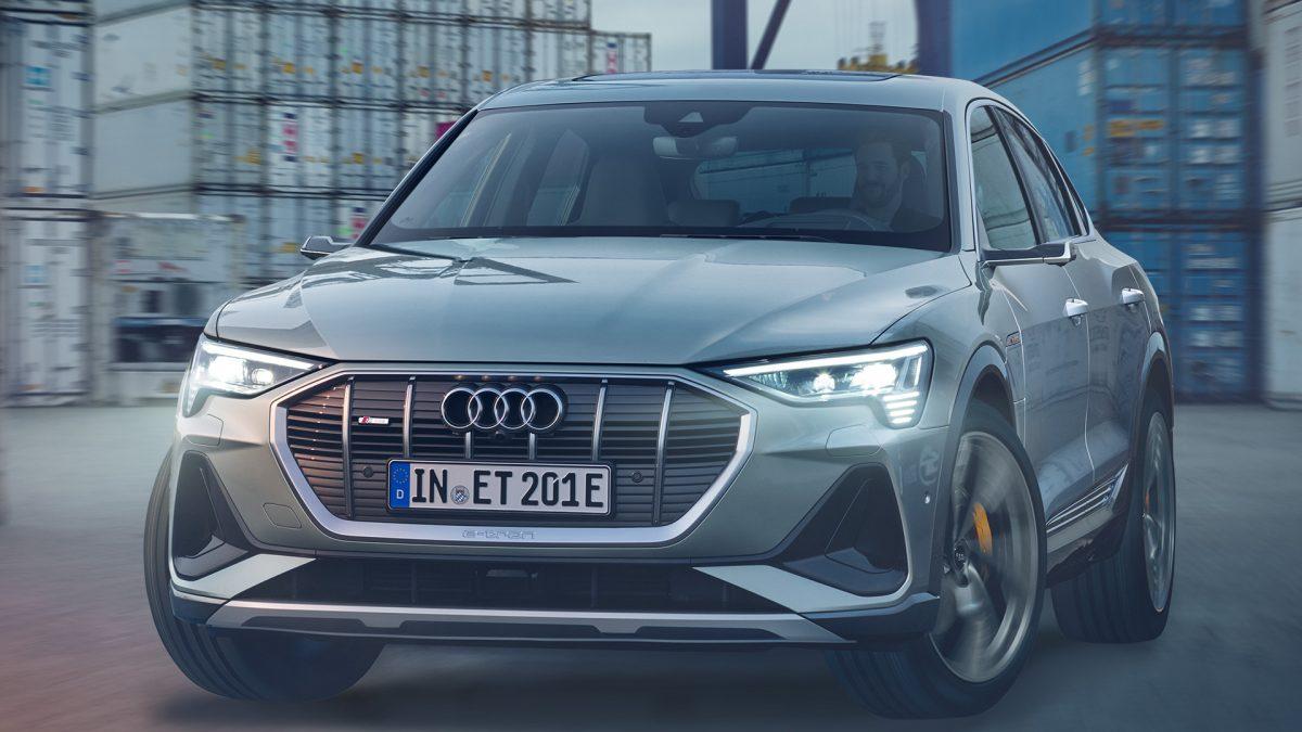 Luigi Masciotta e l'Audi E-Tron Sportback